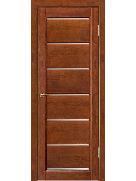 Дверь Премьер плюс, бренди, частично остекленная
