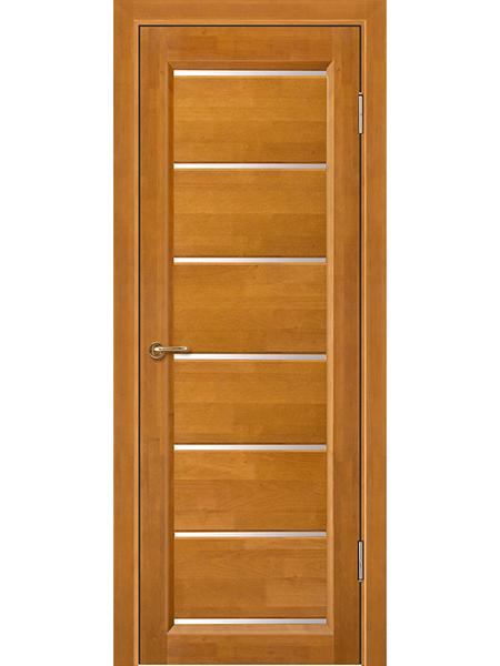 Дверь Премьер плюс, медовый орех, частично остекленная